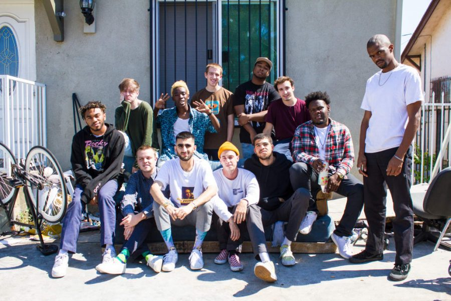 +BROCKHAMPTON%2C+%E2%80%9Cthe+best+boy+band+since+One+Direction%E2%80%9D+sits+outside+of+their+home+in+East+Los+Angeles.+Courtesy+of+Vice