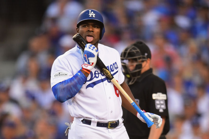 Dodgers%27+Right+Fielder%2C+Yasiel+Puig%2C+looks+to+improve+on+last+season%27s+National+League+Pennant+winning+season+%28Photo+courtesy+of+Harry+How%2FGetty+Images