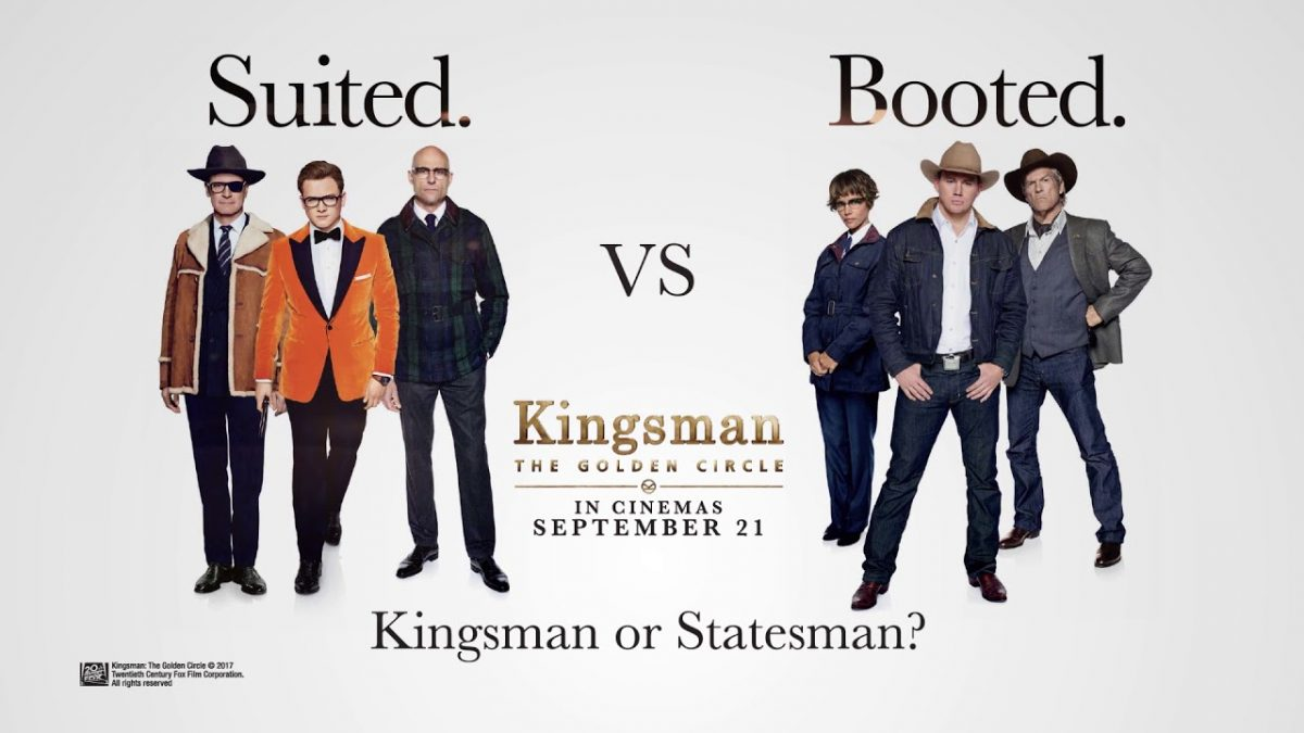 Kingsman vs. Statesmen, can the Brits and the Rednecks cooperate? Caption courtesy of 21st Century Fox