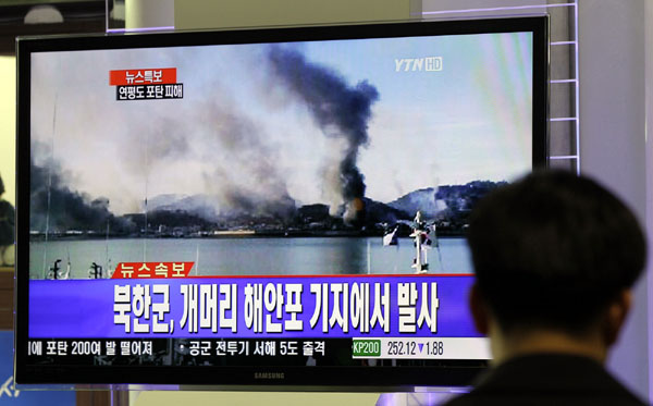 South Korean news channel YTN sends out a news alert with in-depth analysis about the situation in Yeonpyeong Island 20 minutes after the bombardment. Graphic Courtesy of Journalists Association of Korea