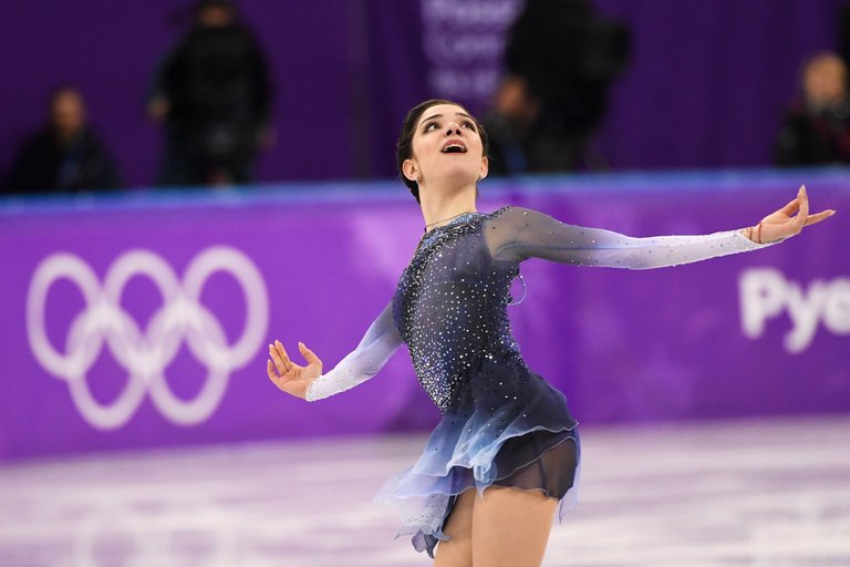 Evgenia+Medvedeva+in+her+short+program+performance+at+the+2018+PyeongChang+Olympics.