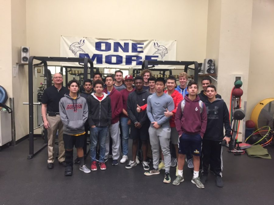 Webb students exercise as part of their mission to educate themselves on proper weight lifting forms and techniques.