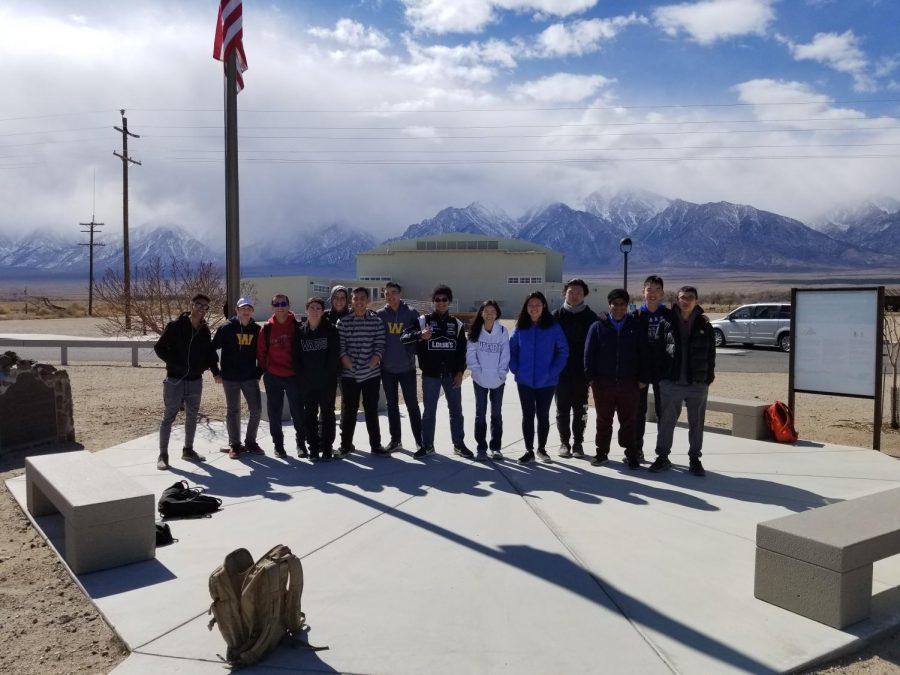 Students at Manzanar internment camp.