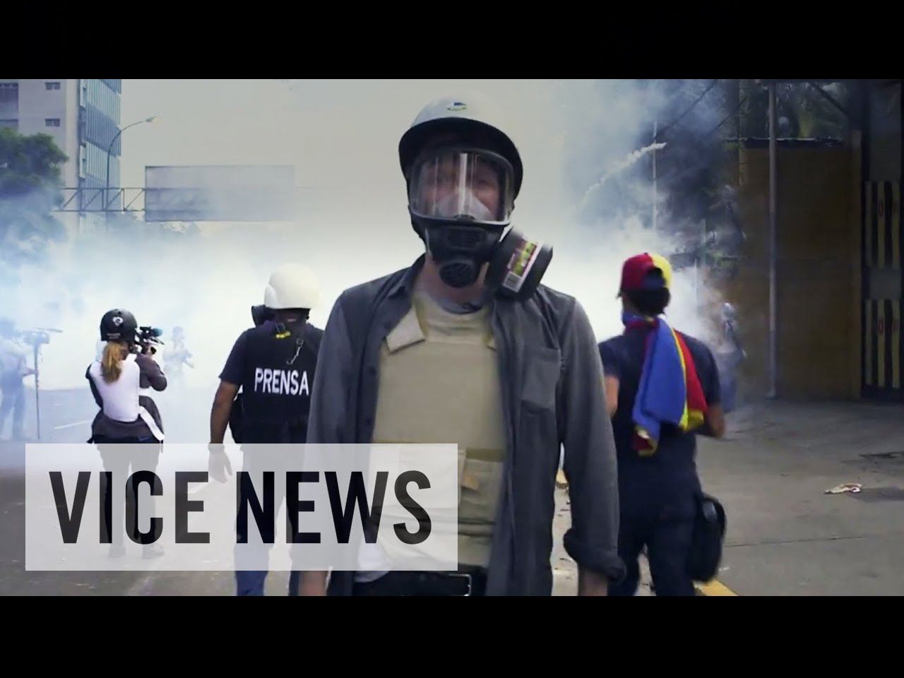 A poster advertising an episode of Vice News, where Vice journalists follow the Russian police. Graphic courtesy of IMDb