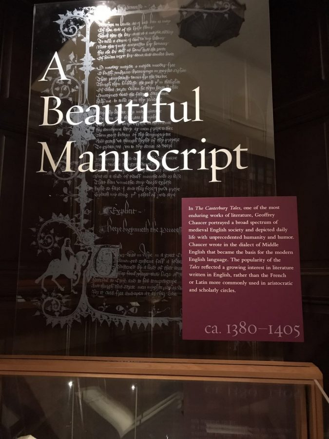 Students delve into historic exhibitions in the Huntington Library.