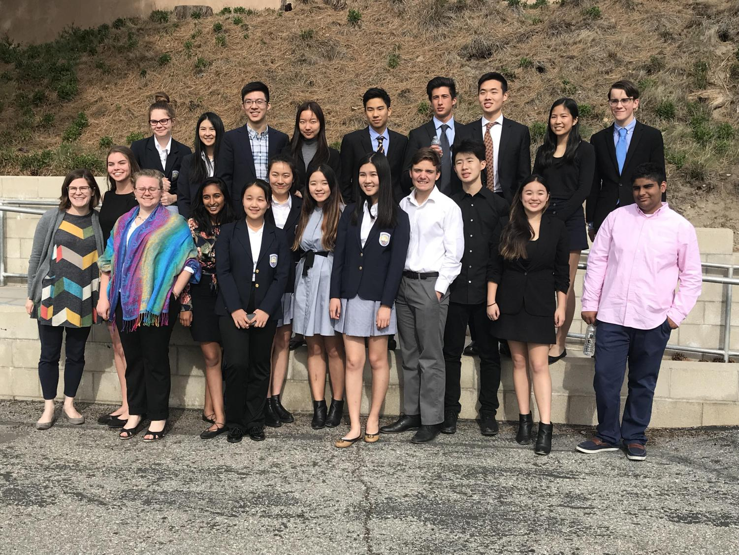 Webb Debate Team in the 2018 Championship Tournament at Rim of the World High School