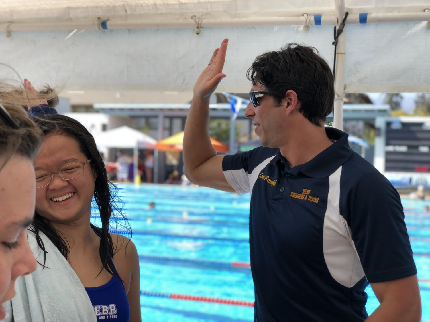 It's high fives all around for Webb swimmers!