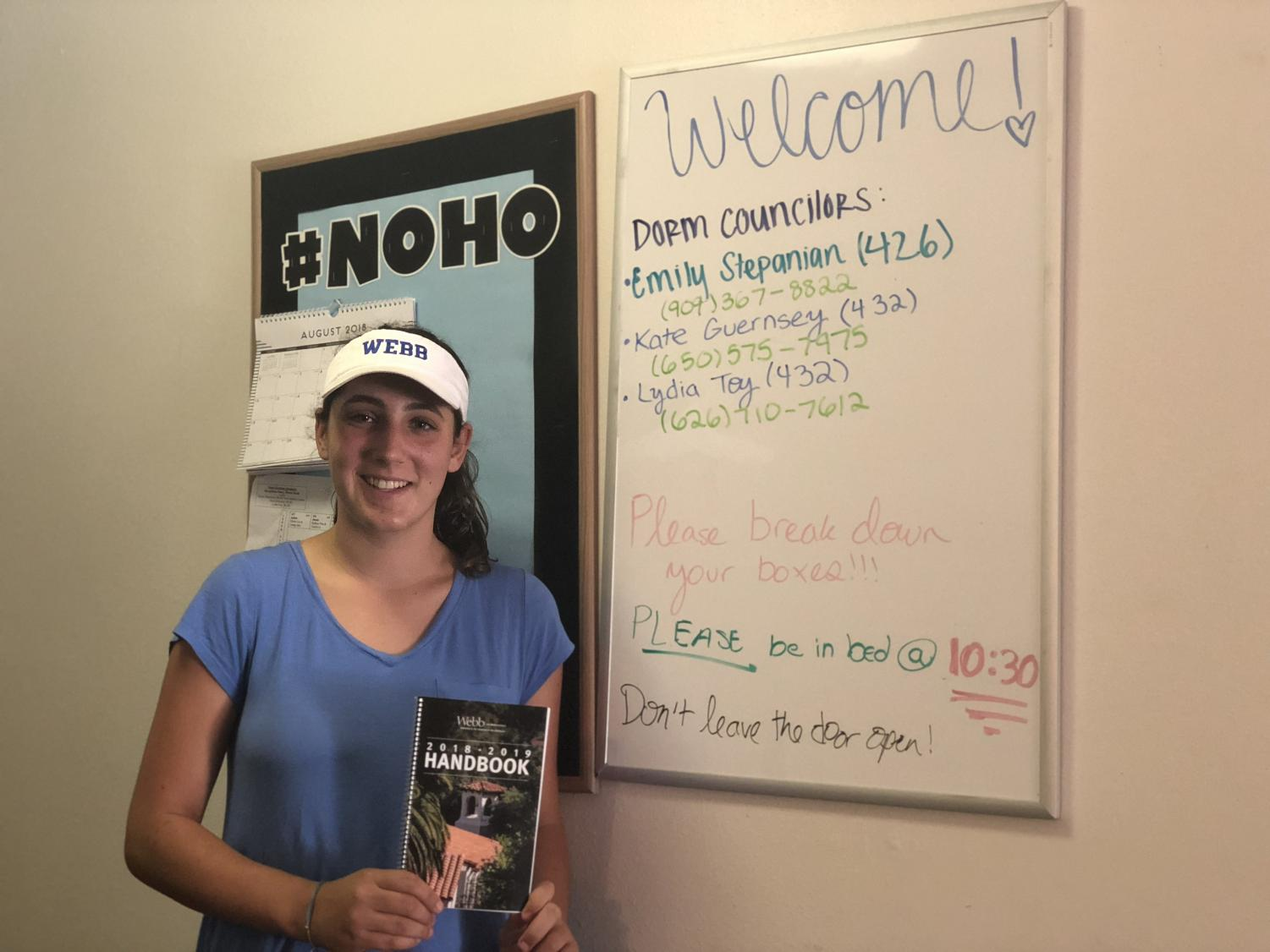 Sasha Theder ('22) is nervous yet excited to start her freshman year as a boarder in NoHo.