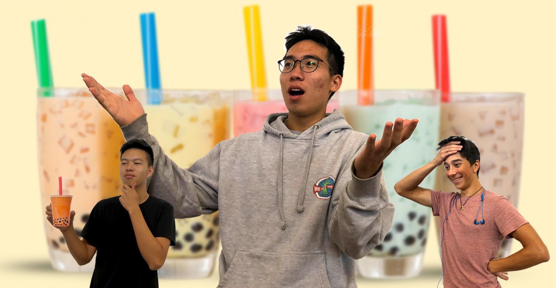 Aaron Phung ('19), Jun Kim ('19), and Jacob Borello ('19) ponder the risks of boba.