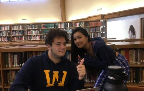 Catherine Wu ('19) and Ben Martinez ('19) are all smiles as they have been friends for the past four years in the same class.