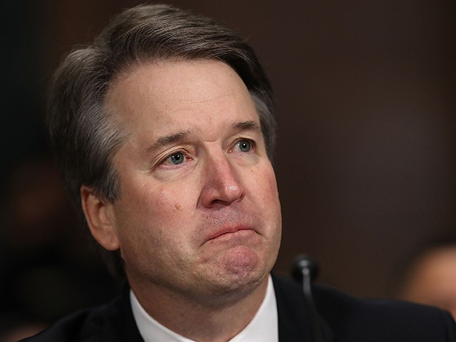 Supreme+Court+Justice+Kavanaugh+cries+during+his+opening+statements.+Graphic+Courtesy+of+Breitbart