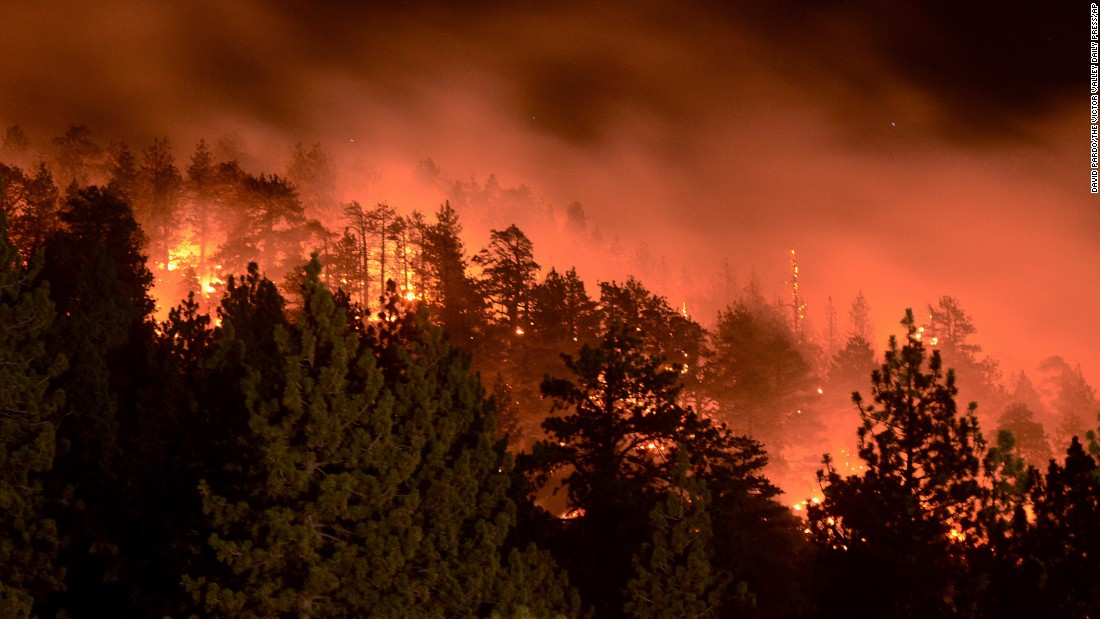 Recent fire at Mt. Baldy brings the heat close to home. Photo from CNN.