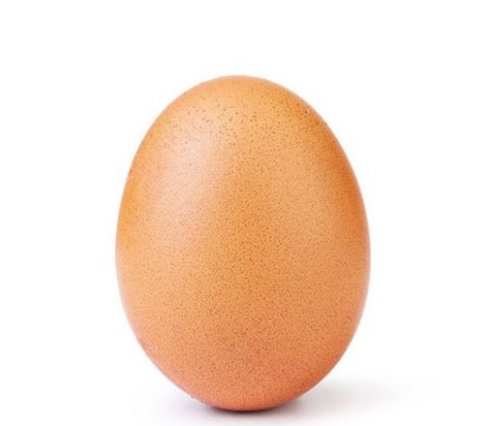 An egg becomes the most liked picture on Instagram. Graphic courtesy of @world_record_egg.