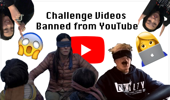 Jake Paul participates in the Bird Box challenge. Graphic courtesy of Emma Lin ('20).