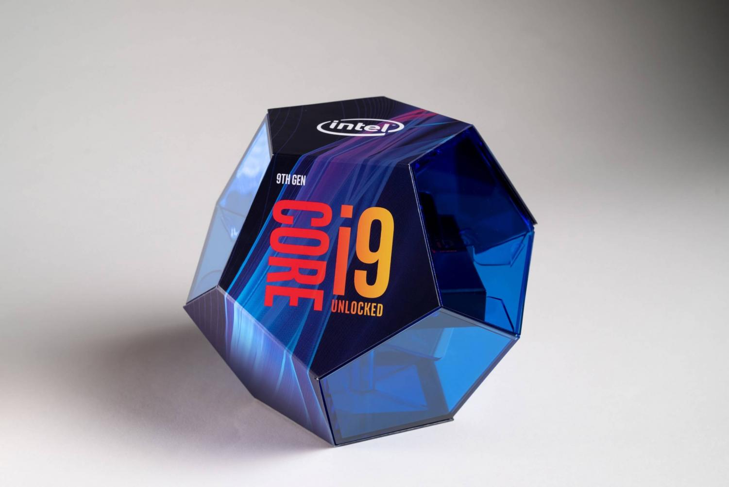 The i9 sits in its pentagonal prism packaging. Graphic courtesy of Tech Spot.