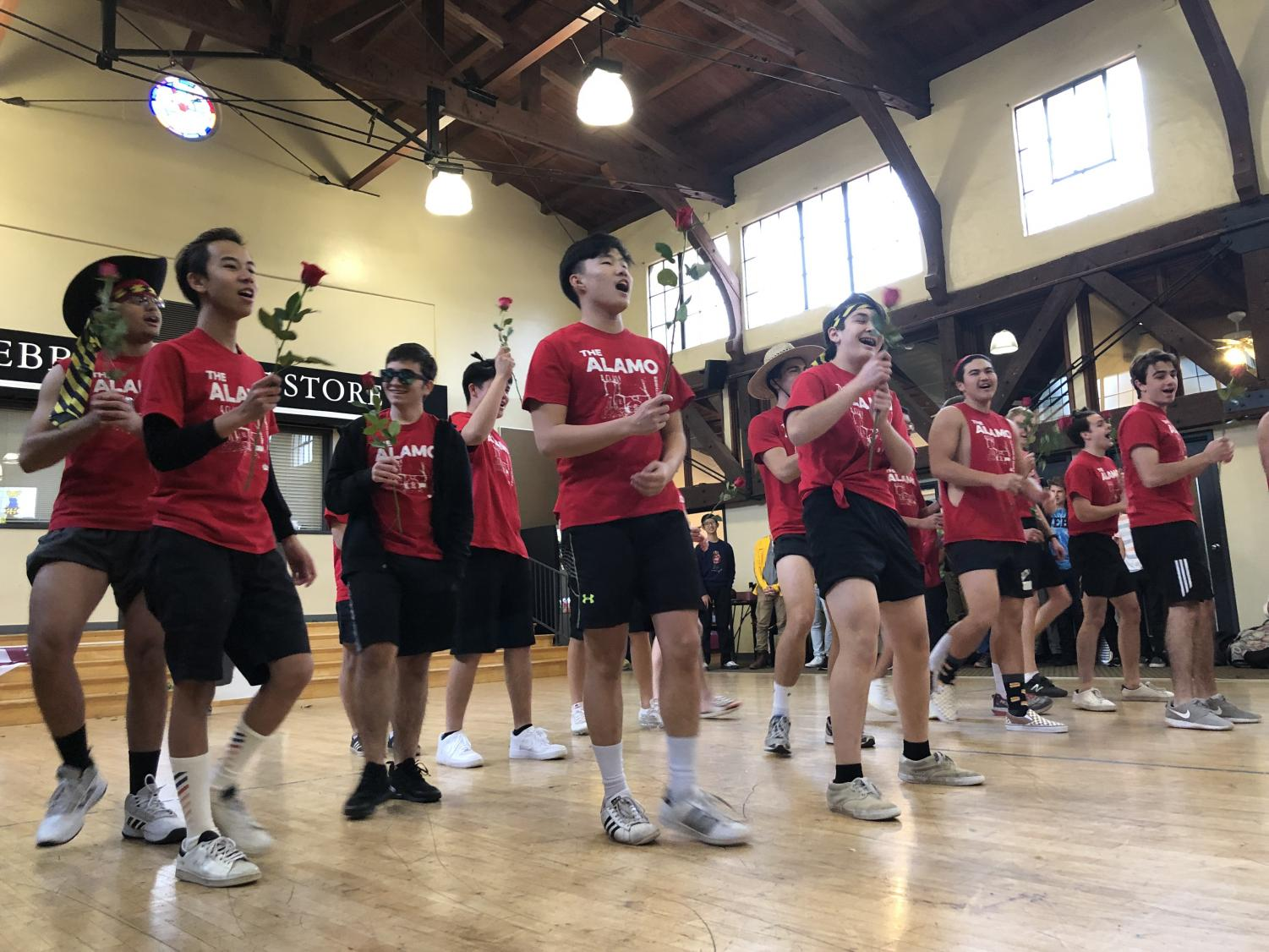 Alamo dorm residents, defending champions of Webb Idol, shows their dance moves in front of students and faculty.