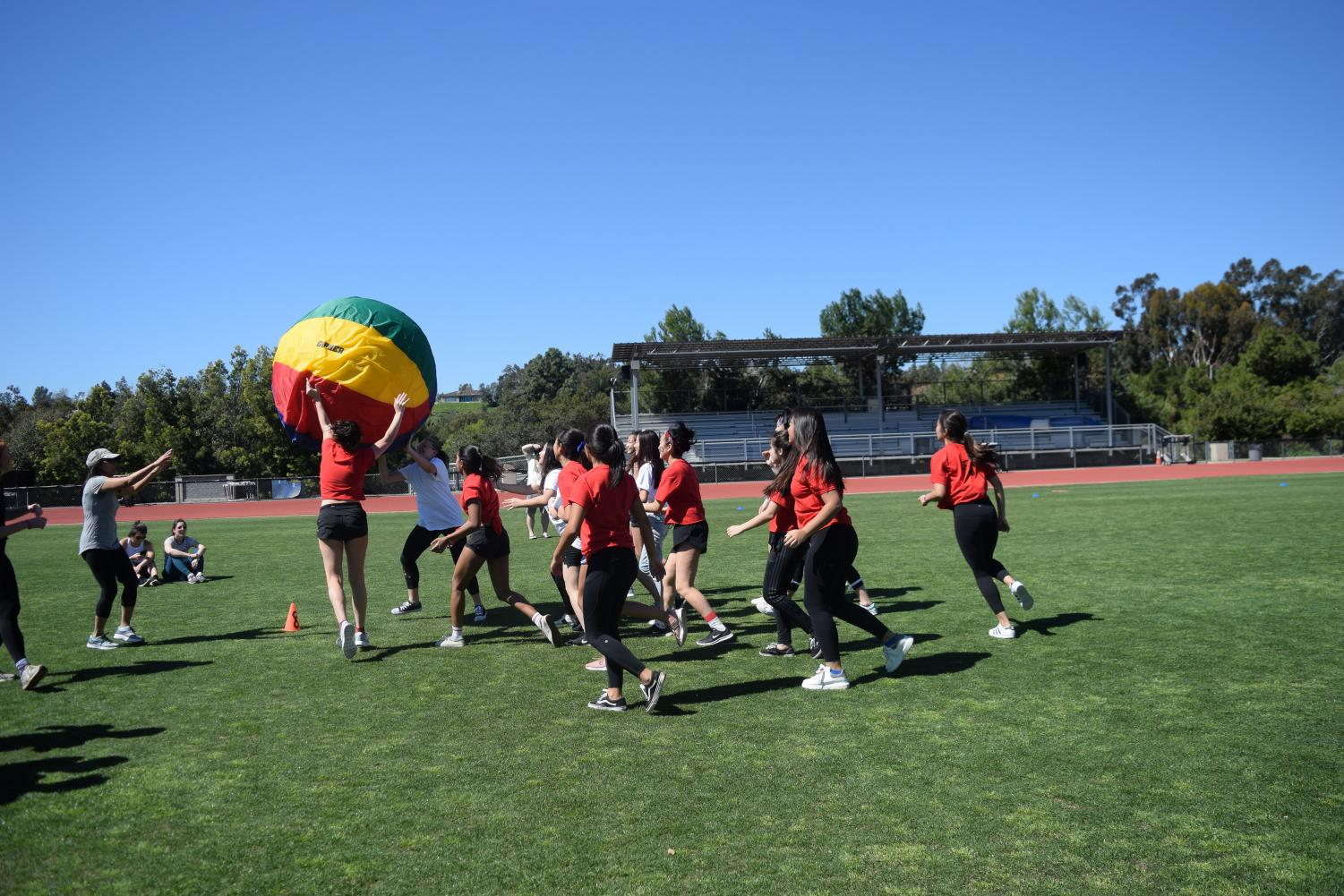 VWS class of 2020 competes against VWS class of 2022 in earth ball.