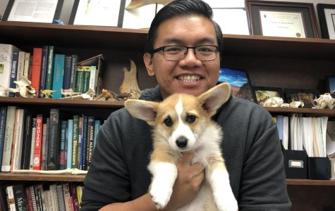 Adorable puppy sweeps the hearts of Webb students
