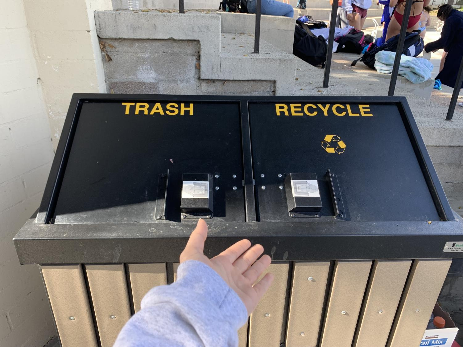 A Webbie decides to recycle her trash instead of throwing it away.