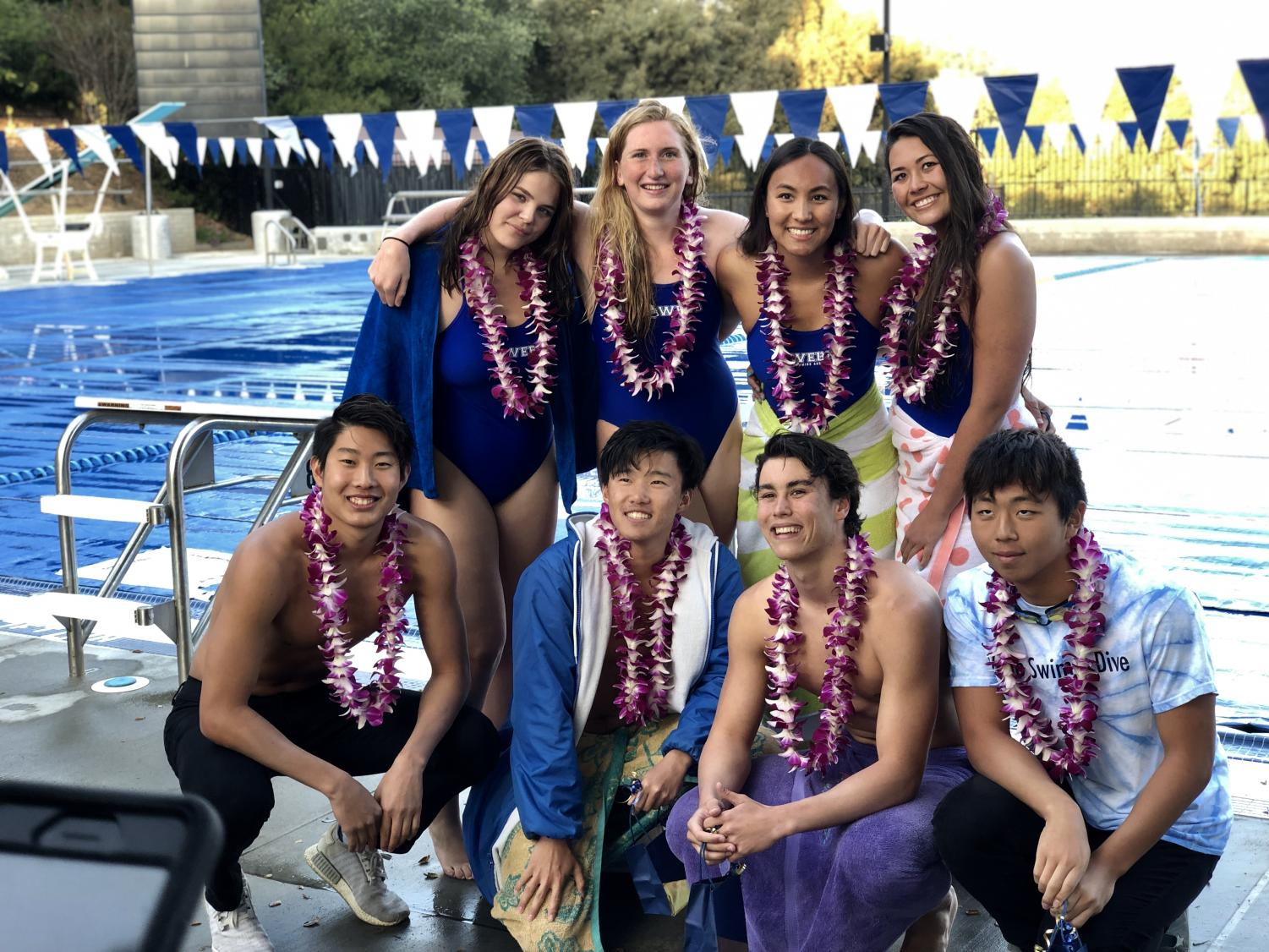 Webb swim & dive makes a splash at senior meet