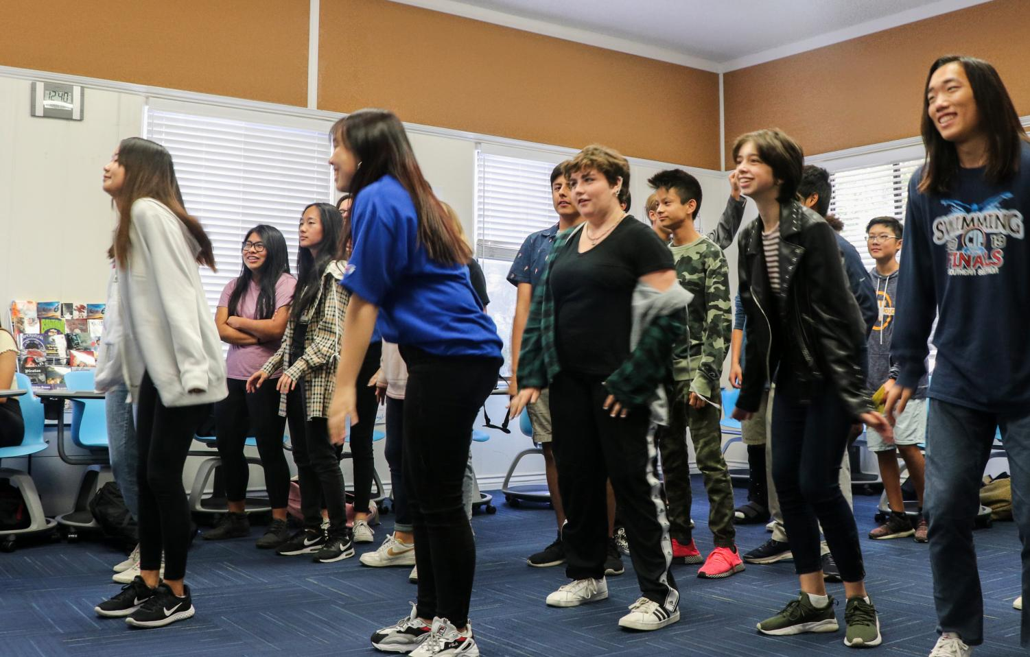 The music club hosts K-pop play dance.