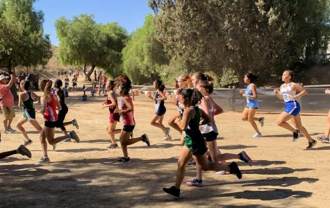 Valeria Gonzalez is focused on running during the Mt. SAC invitational.