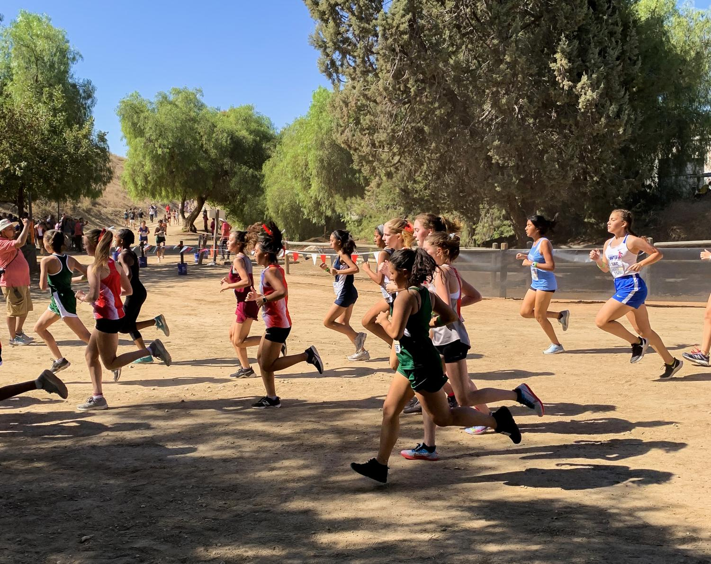 Valeria Gonzalez is focused on running during the Mt. SAC invitational.