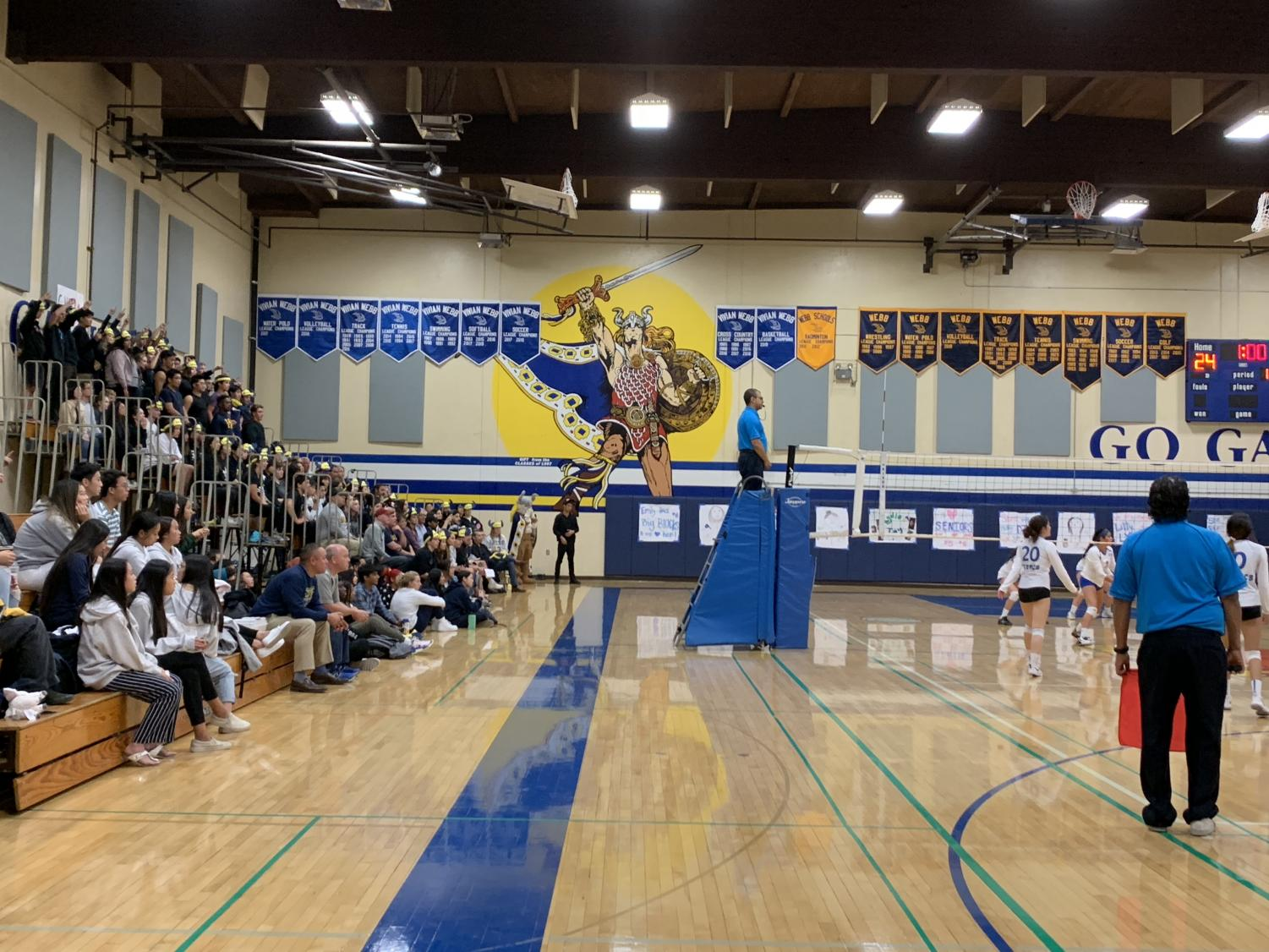 Webb students pack the stands and cheer on the Gauls.