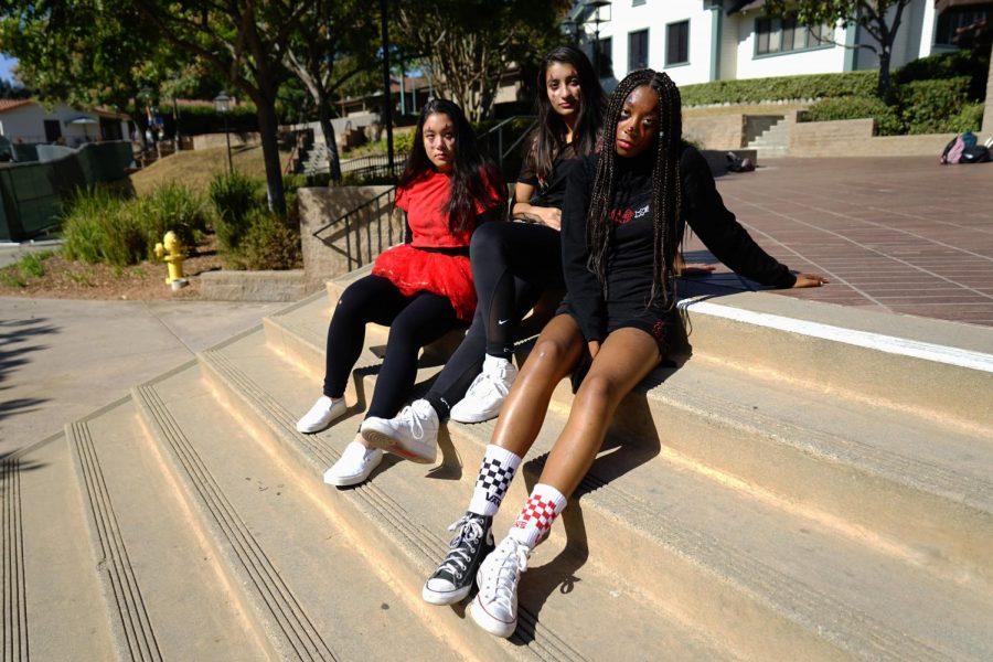 Chiara Filart ('21), Shannon Uppal ('21), and Aliza Tyndale ('21) are terrifying clowns.