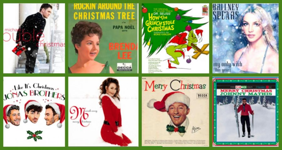 Festive album covers all around! Graphic courtesy of Nichola Monroe.