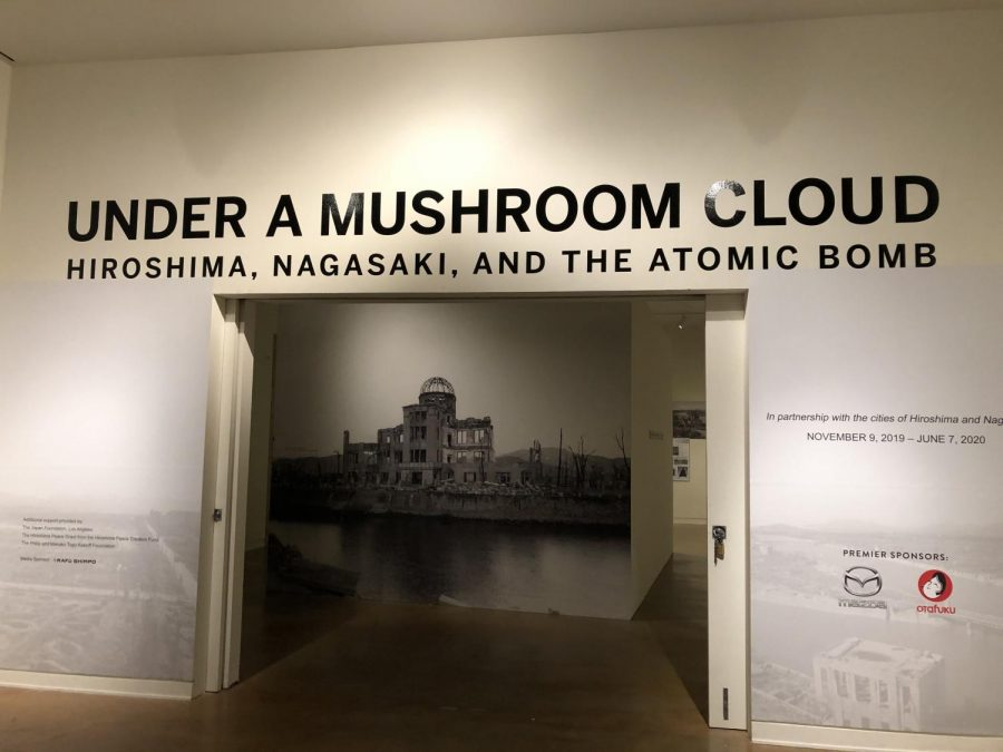 The+%E2%80%9CUnder+a+Mushroom+Cloud%E2%80%9D+exhibit+is+featured+in+collaboration+with+the+cities+of+Hiroshima+and+Nagasaki+to+commemorate+the+75th+anniversary+of+the+bombings.+