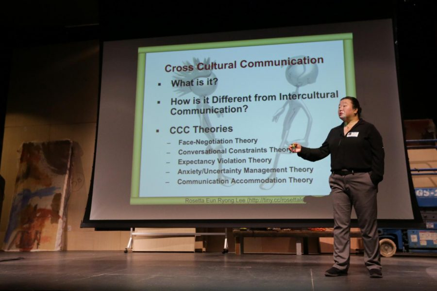 Rosetta+Lee+addresses+the+topic+of+Cross+Cultural+Communication.+