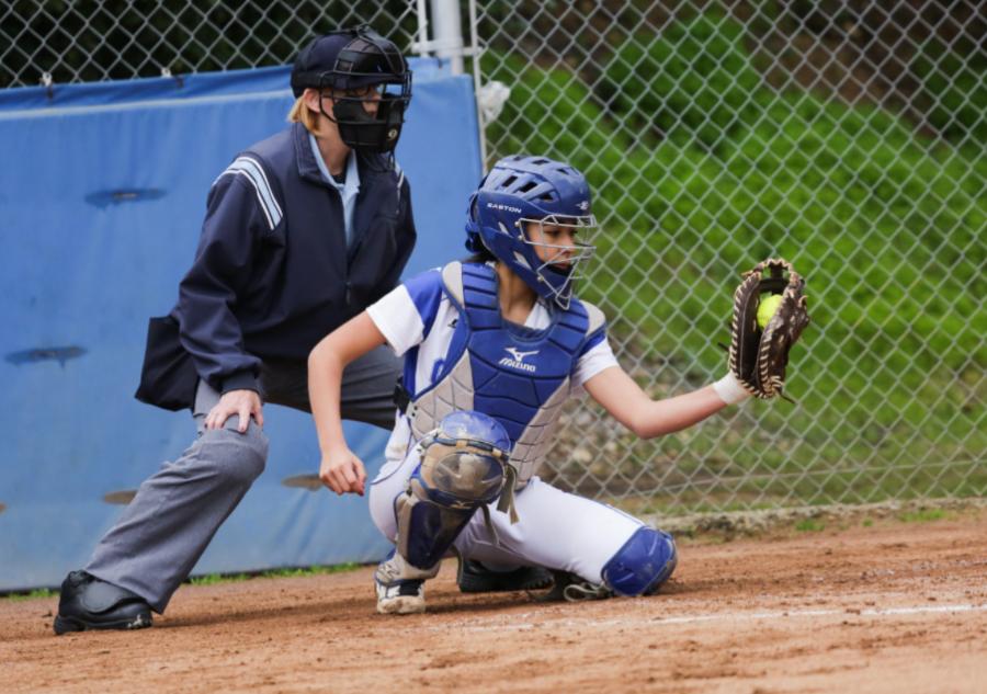 Emily Arias ('20) loves playing softball. Graphic courtesy of Scott Nichols