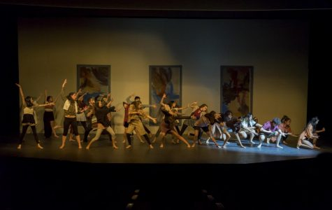 "The dance team performs ""Frames Framed."""