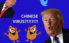 "The ""Chinese Virus"" catchphrase gained attention after being used by President Donald Trump. Graphic courtesy of Enya Chi."