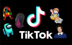 The social media app, TikTok, popularizes countless new trends. Graphic courtesy: Kaitlyn De Armas ('21).