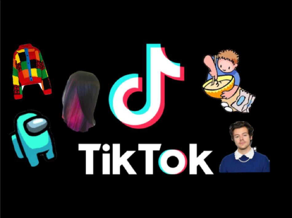 The social media app, TikTok, popularizes countless new trends. Graphic courtesy: Kaitlyn De Armas (
