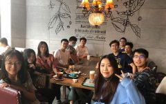 Rita Wang ('24), Maven Li ('24), Chloe Wang ('24), Jonathan Yu ('22), Richard Jiang ('23), Tony Lin ('22), Jack Zhou ('23), William Yang ('24), Hank Sun ('22), Michael Fu ('24), and Season Li ('23) get together in a cafe on the first Saturday of school.