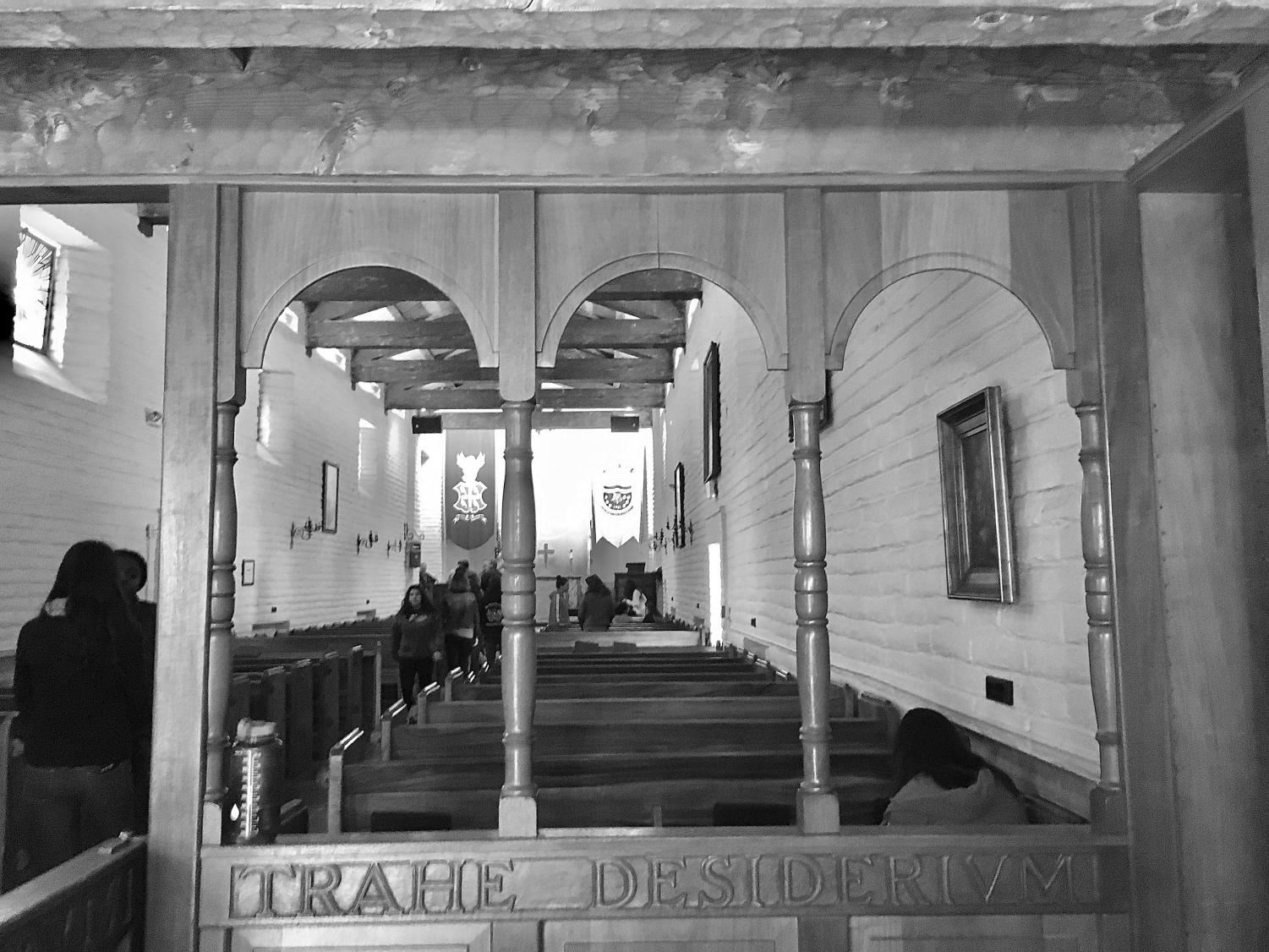 The Vivian Webb Chapel offers a place of reflection and an opportunity to feel connected to Webb's history. This year instead of being present in the chapel the spirit of the talks will move online.