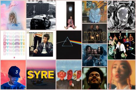 Here are the albums of songs featured on this year