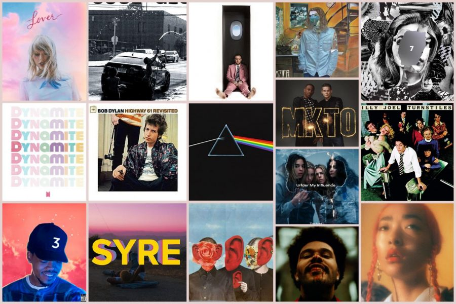 Here are the albums of songs featured on this year's staff playlist.