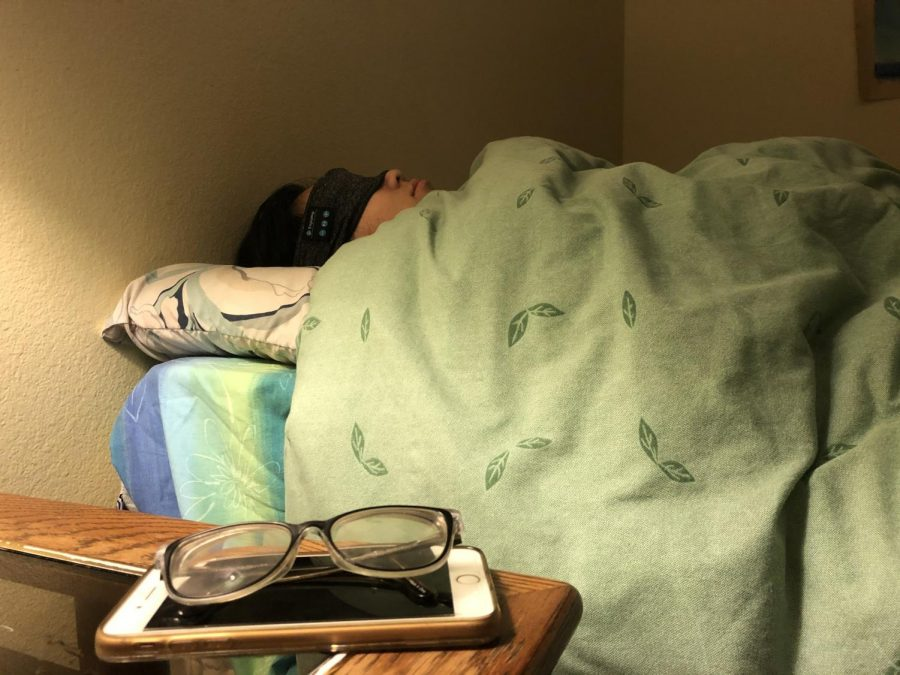 Yvette Shu ('23) gets a good night rest after a long day of classes and homework.