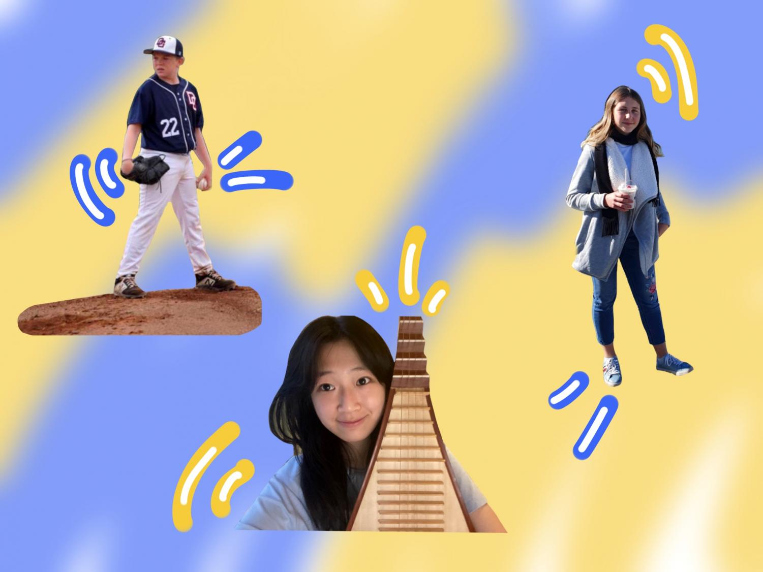 The class of '24 has diverse interests from sports, to music, to travel. Graphic courtesy: Nichola Monroe (