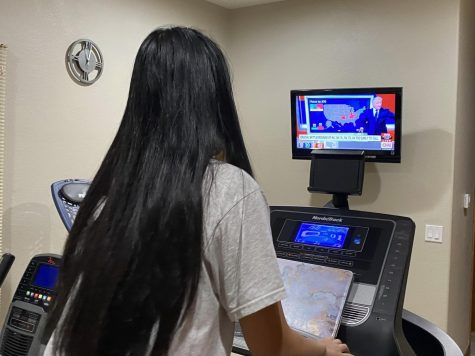 Alice Phung ('21) follows the news to receive updates on the election.