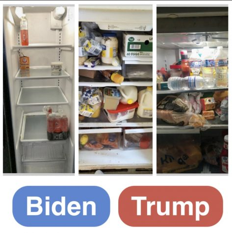 These are examples of a sample questions from the New York Times' Can You Tell a 'Trump' Fridge From a 'Biden' Fridge? It features a fridge belonging to either supporter, and the viewer must decide who it belongs to. For more information on implicit bias, scientists from Harvard University, University of Washington, and University of Virginia have released Project Implicit, which is made up of an assortment of quizzes that tests your implicit bias and shows the results of how your immediate reactions affect your choices. Graphic courtesy: Kaylynn Chang (