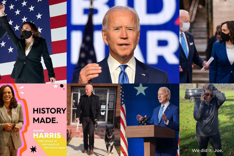 Some+of+the+social+media+posts+that+have+been+circulated+by+Webb+students+since+Joe+Biden+was+declared+President-elect.+Social+media+has+been+a+more+important+tool+than+ever+in+getting+out+the+vote+this+election+cycle.
