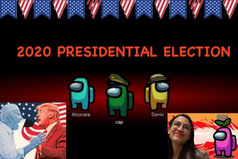 AOC's Among Us stream has influenced many eligible Generation Z voters to take part in the 2020 presidential election. Graphic courtesy: Leeann Shu ('22).