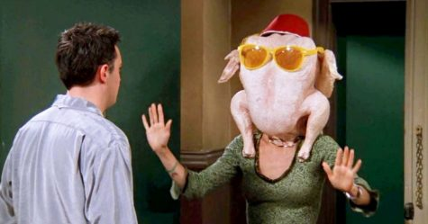 "Photo from season five, episode eight, ""The One with All the Thanksgivings"" from the television show FRIENDS."