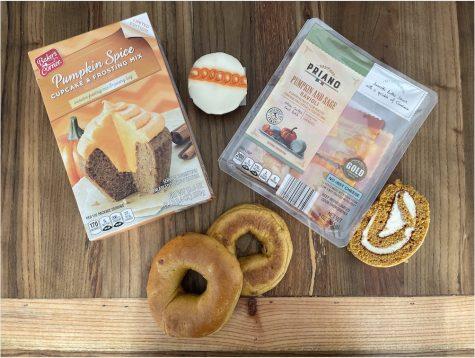 Pumpkin treats await their fate to be eaten.