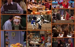 A collage of the best Friends Thanksgiving episodes.